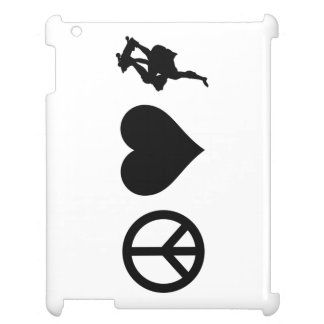 Peace Love Skateboarding Case For The iPad 2 3 4