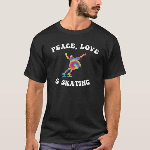Peace Love & Skating Groovy Skateboarder T-Shirt