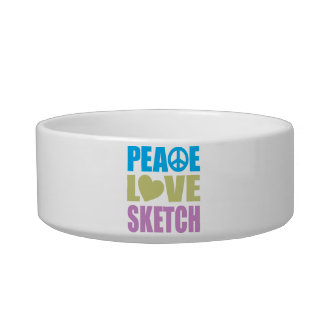 Peace Love Sketch Bowl