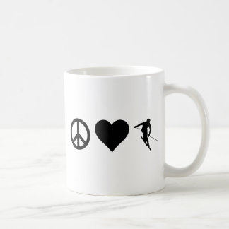 Peace Love Ski Coffee Mug