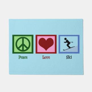 Peace Love Ski Doormat