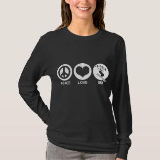 Peace Love Ski (female) T-Shirt