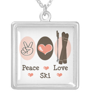 Peace Love Ski Necklace