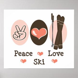 Peace Love Ski Poster