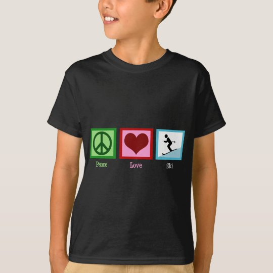 Peace Love Ski T-Shirt