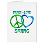 Peace Love SKIING Greeting Cards