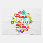 PEACE LOVE Skiing Hand Towels