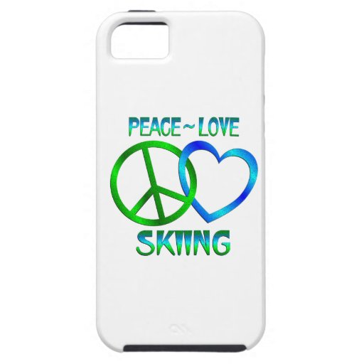 Peace Love SKIING iPhone 5 Covers