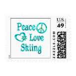 Peace Love Skiing Postage Stamps