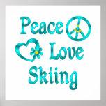 Peace Love Skiing Print