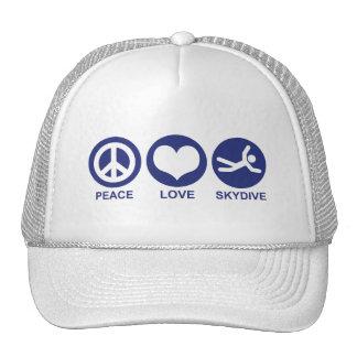 Peace Love Skydive Trucker Hat