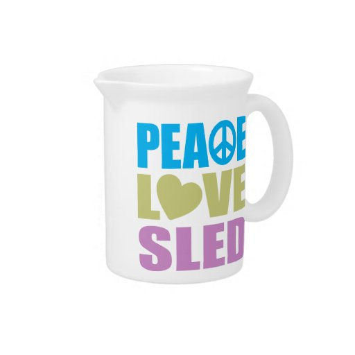 Peace Love Sled Beverage Pitcher
