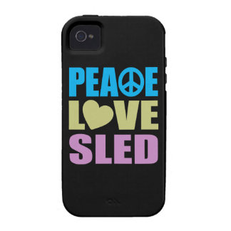 Peace Love Sled iPhone 4/4S Cases