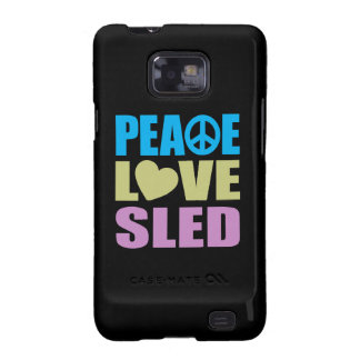 Peace Love Sled Samsung Galaxy S2 Covers