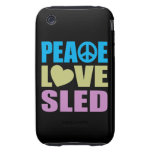 Peace Love Sled iPhone 3 Tough Cover