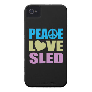 Peace Love Sled iPhone 4 Cover