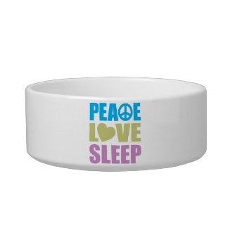 Peace Love Sleep Cat Water Bowls