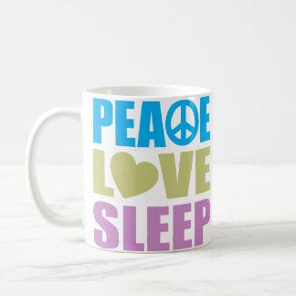 Peace Love Sleep Coffee Mug