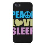 Peace Love Sleep Cover For iPhone 5