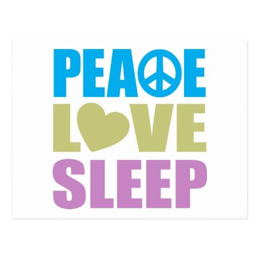 Peace Love Sleep Postcard