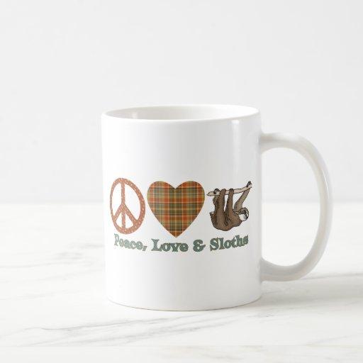 Peace, Love & Sloths Classic White Coffee Mug