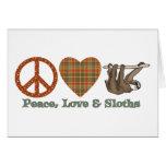 Peace, Love & Sloths Greeting Card