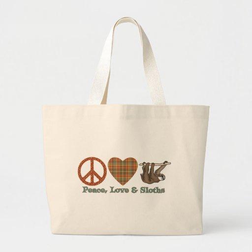 Peace, Love & Sloths Jumbo Tote Bag