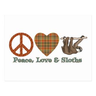 Peace, Love & Sloths Postcard