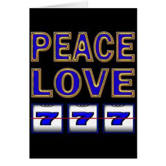 PEACE LOVE SLOTS CARD