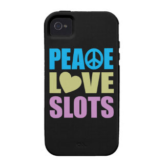 Peace Love Slots iPhone 4/4S Cases