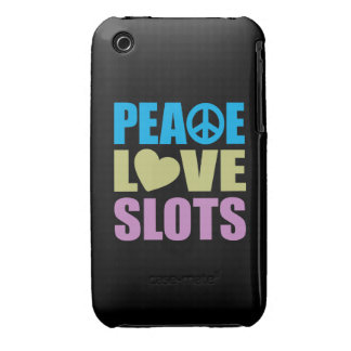 Peace Love Slots iPhone 3 Cases
