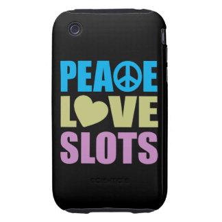 Peace Love Slots iPhone 3 Tough Case