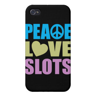 Peace Love Slots Cover For iPhone 4