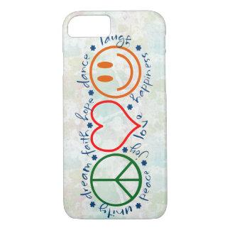 Peace Love Smile iPhone 7 Case