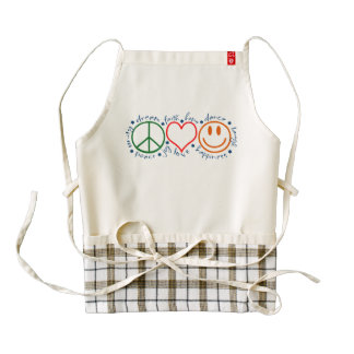 Peace Love Smile Zazzle HEART Apron