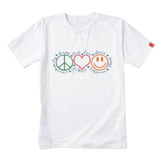 Peace Love Smile Zazzle HEART T-Shirt