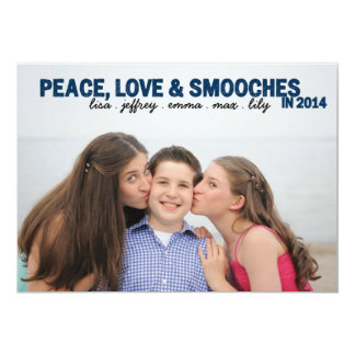 Peace, Love & Smooches Card