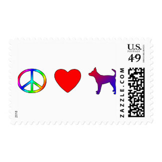 Peace Love Smooth Portuguese Podengos Postage