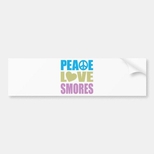 Peace Love Smores Car Bumper Sticker