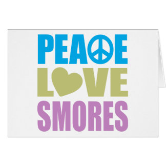 Peace Love Smores Stationery Note Card