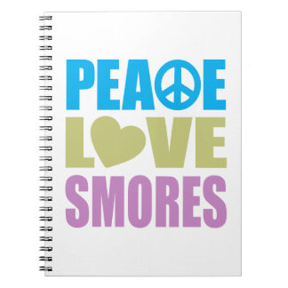 Peace Love Smores Notebooks