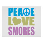 Peace Love Smores Poster