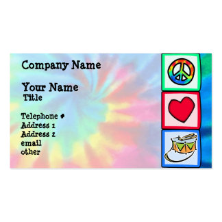 Peace, Love, Snare Drum Double-Sided Standard Business Cards (Pack Of 100)