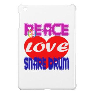 Peace Love Snare Drum iPad Mini Cases