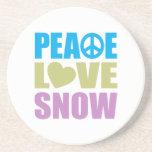 Peace Love Snow Beverage Coasters