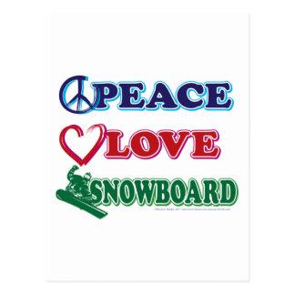 Peace-Love-Snow-Board Postcard