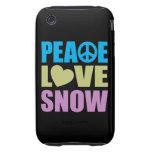 Peace Love Snow iPhone 3 Tough Case