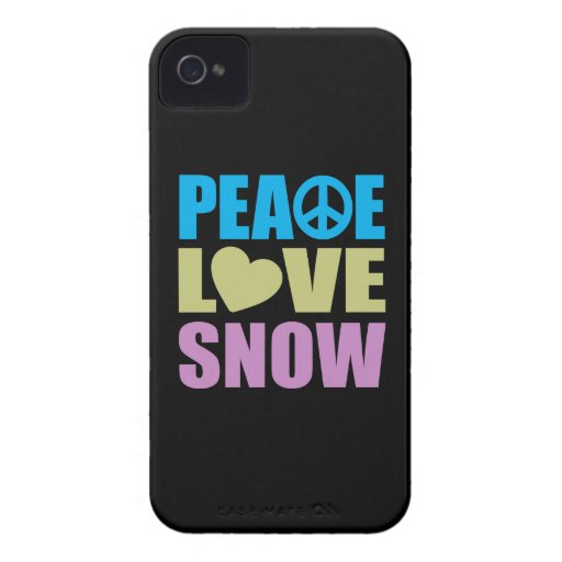 Peace Love Snow iPhone 4 Case-Mate Case