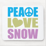 Peace Love Snow Mouse Pads