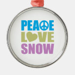 Peace Love Snow Ornament